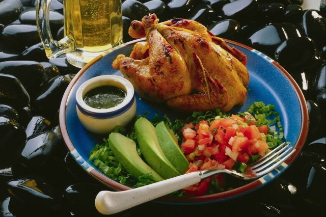 Cornish Hen and salad
